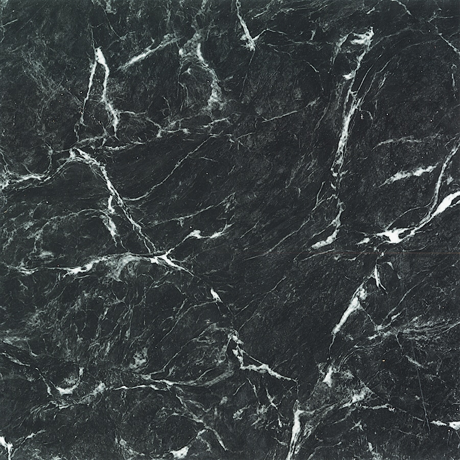 Cryntel 12-in x 12-in Ebony Marble Finish Vinyl Tile