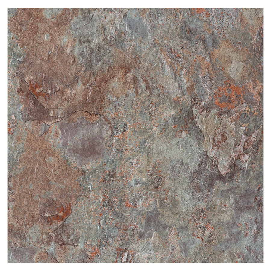 Cryntel 1-Piece 12-in x 12-in Shale Peel-And-Stick Slate Residential Vinyl Tile