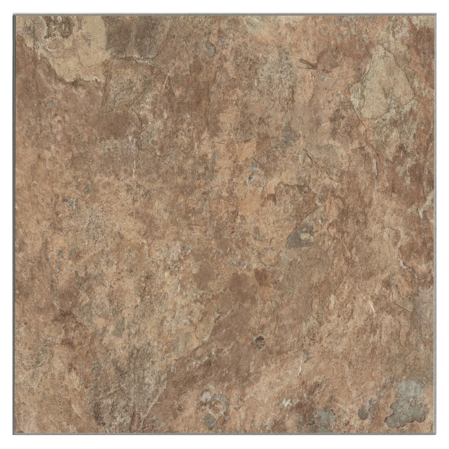 Cryntel 1-Piece 12-in x 12-in Sand Stone Peel-And-Stick Slate Residential Vinyl Tile