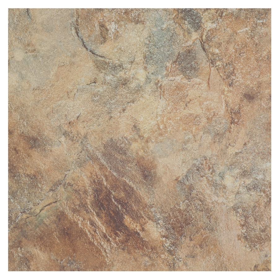 Cryntel 1-Piece 12-in x 12-in Terra Peel-And-Stick Stone Vinyl Tile