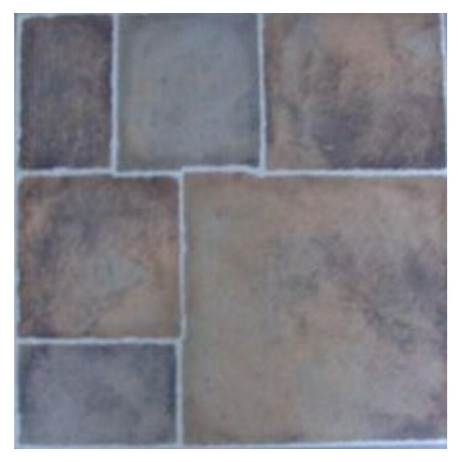 Style Selections 1-Piece 12-in x 12-in Canyon Peel-And-Stick Stone Vinyl Tile