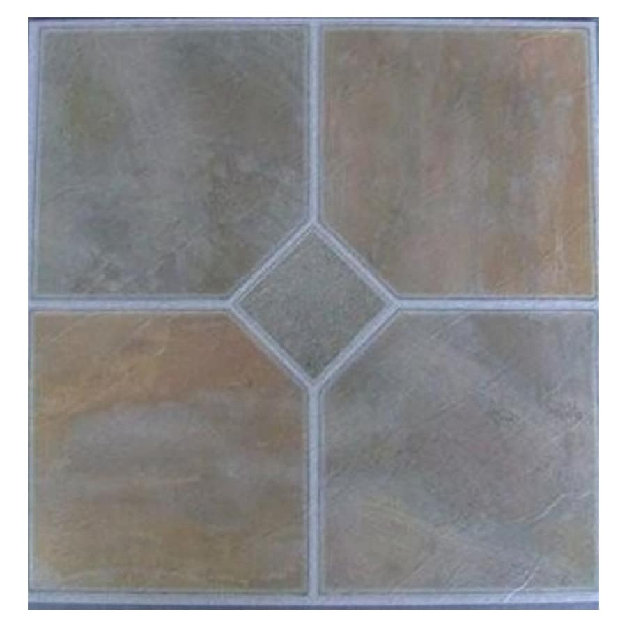 Cryntel 1-Piece 12-in x 12-in Verdi Peel-And-Stick Slate Residential Vinyl Tile