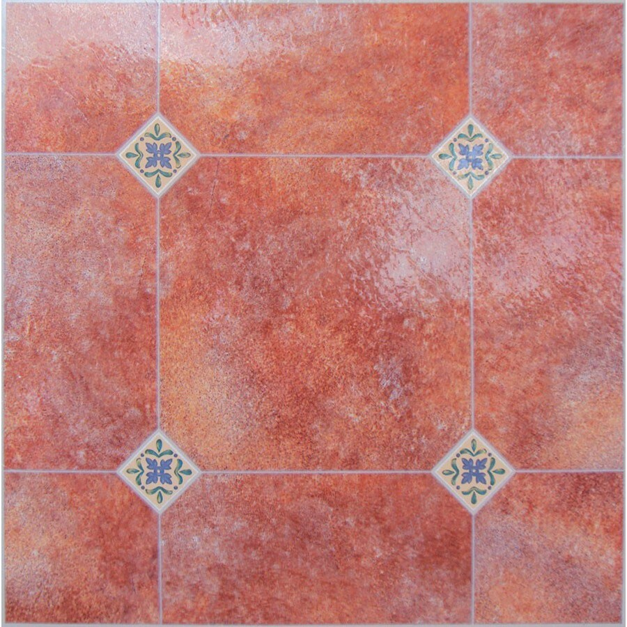 Style Selections 1-Piece 12-in x 12-in Adobe Peel-And-Stick Mosaic Residential Vinyl Tile