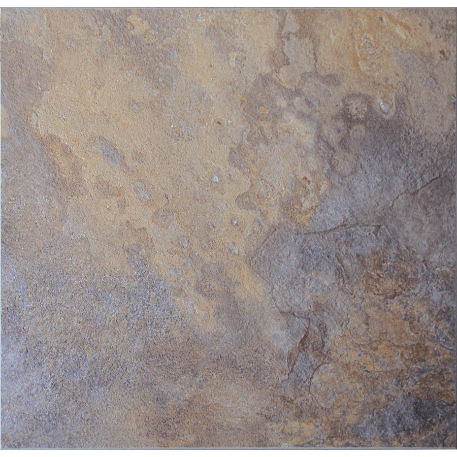 Cryntel 1-Piece 12-in x 12-in Sahara Peel-And-Stick Slate Residential Vinyl Tile