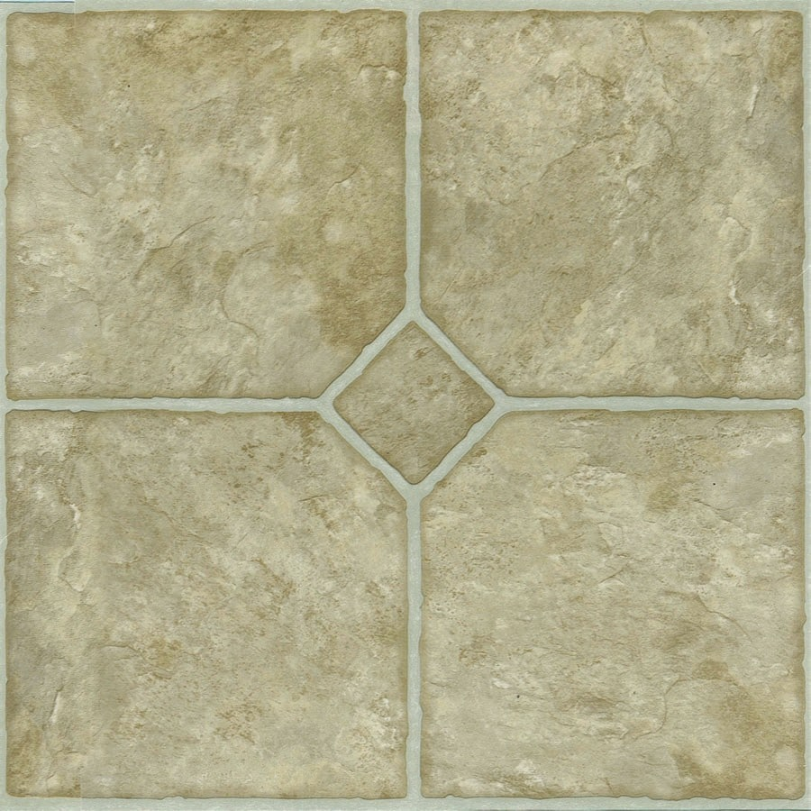 Style Selections 1-Piece 12-in x 12-in Chatsworth Peel-And-Stick Stone Vinyl Tile