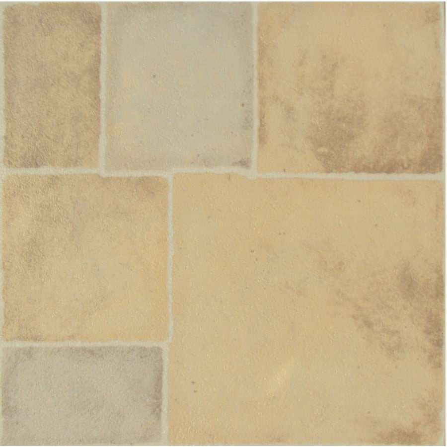 Cryntel Visions 1-Piece 12-in x 12-in Cobble Stone Peel-And-Stick Stone Vinyl Tile