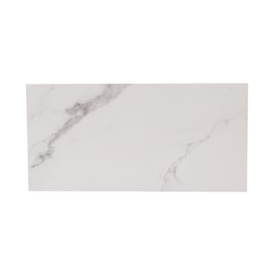 Statuary White Matte Porcelain Marble Floor Tile Sample Common 6 In X Actual 5 87 W L
