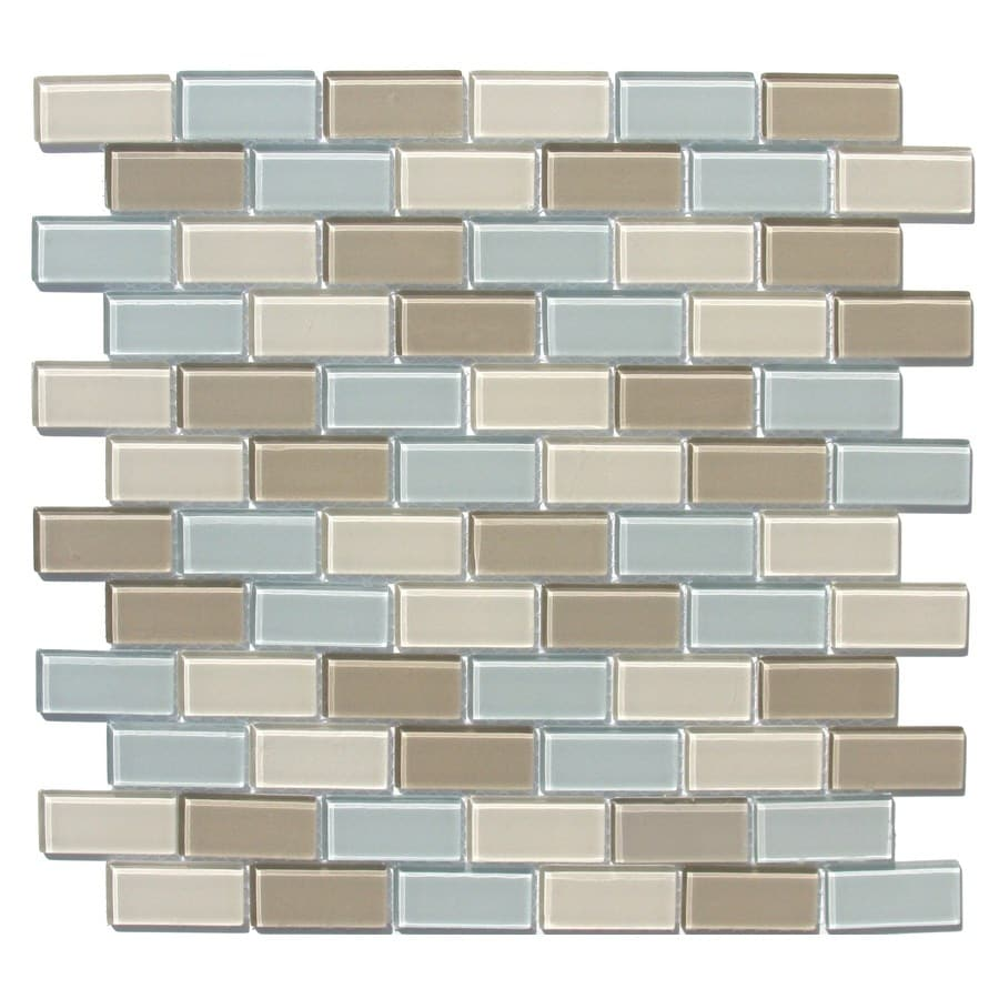 Style Selections 12 In X Multicolor Gl Wall Tile
