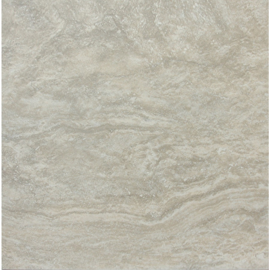 Shop style selections floriana heather porcelain floor tile common 12 in x 12 in actual 11 - Lowes floor tiles porcelain ...
