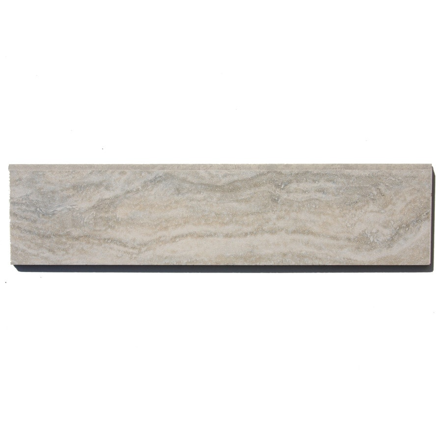Style Selections Floriana Heather Thru Body Porcelain Bullnose Tile (Common: 3-in x 12-in; Actual: 2.83-in x 11.81-in)