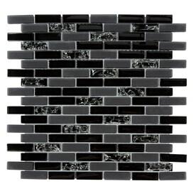 Shop Gbi Tile Amp Stone Inc Gemstone Black Brick Mosaic