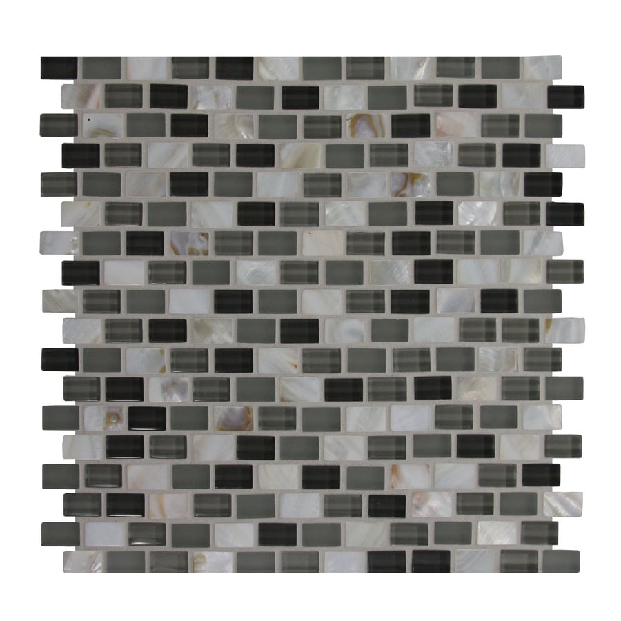 GBI Tile & Stone Inc. Glass Shell Mosaic Glass Wall Tile (Common: 12-in x 12-in; Actual: 11.97-in x 11.97-in)