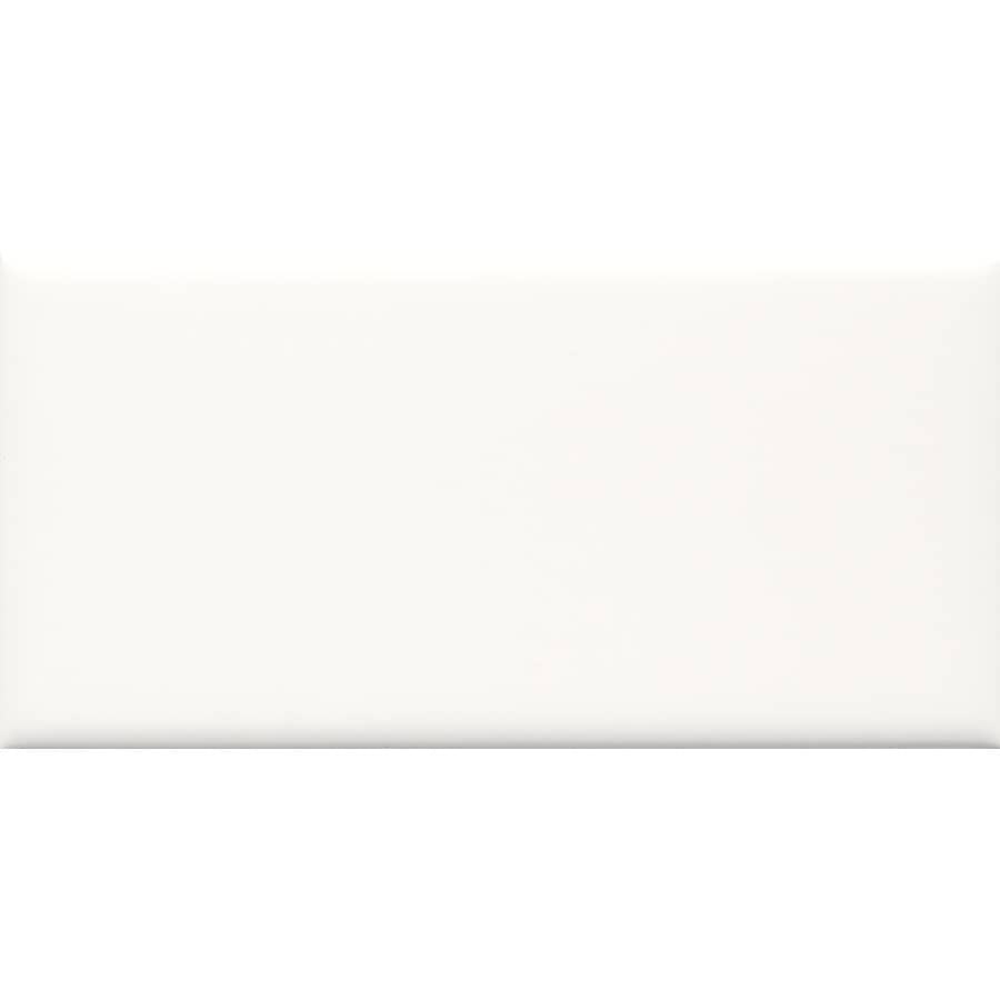 allen + roth 8-Pack White Ceramic Wall Tile (Common: 3-in x 6-in; Actual: 2.94-in x 5.88-in)