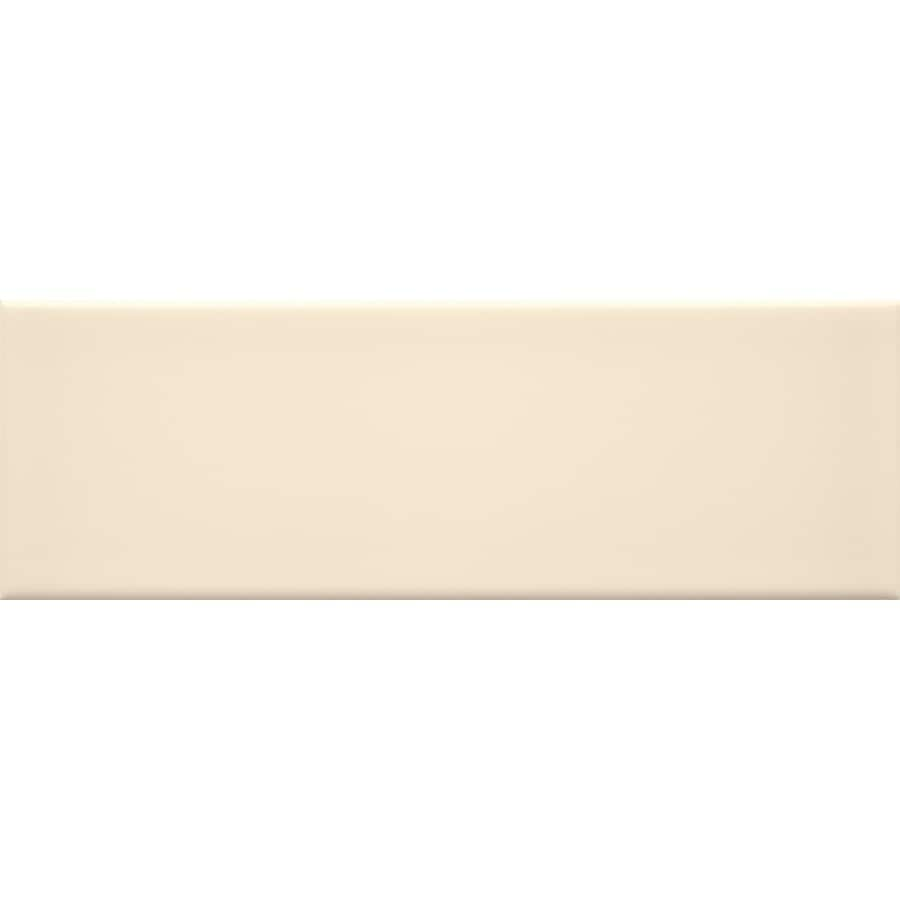 allen + roth 9-Pack Fawn Ceramic Wall Tile (Common: 4-in x 12-in; Actual: 11.81-in x 3.93-in)