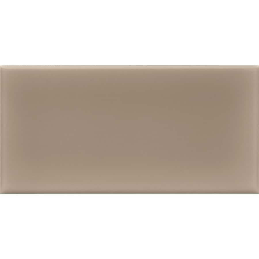 allen + roth 8-Pack Chocolate Ceramic Wall Tile (Common: 3-in x 6-in; Actual: 2.94-in x 5.88-in)