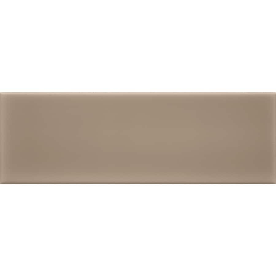 allen + roth 9-Pack Chocolate Ceramic Wall Tile (Common: 4-in x 12-in; Actual: 11.81-in x 3.93-in)