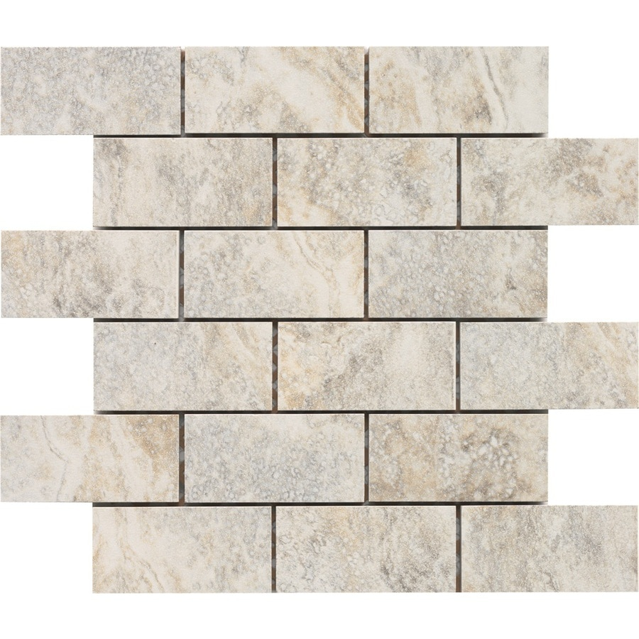 Shop Style Selections Floriana Heather Subway Mosaic Porcelain Wall