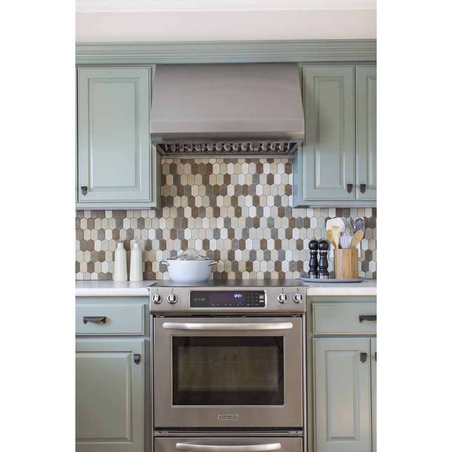 GBI Tile & Stone Inc. Porcelain Glazed Honeycomb Mosaic Wall Tile (Common: 12-in x 13-in; Actual: 12.44-in x 13.11-in)