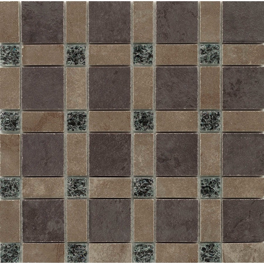 GBI Tile & Stone Inc. Porcelain Mixed Mosaic Wall Tile (Common: 12-in x 12-in; Actual: 11.81-in x 11.81-in)