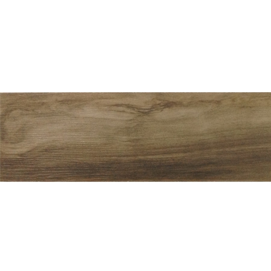 GBI Tile & Stone Inc. Kaden Walnut Wood Look Porcelain Floor Tile (Common: 6-in x 36-in; Actual: 5.83-in x 35.43-in)