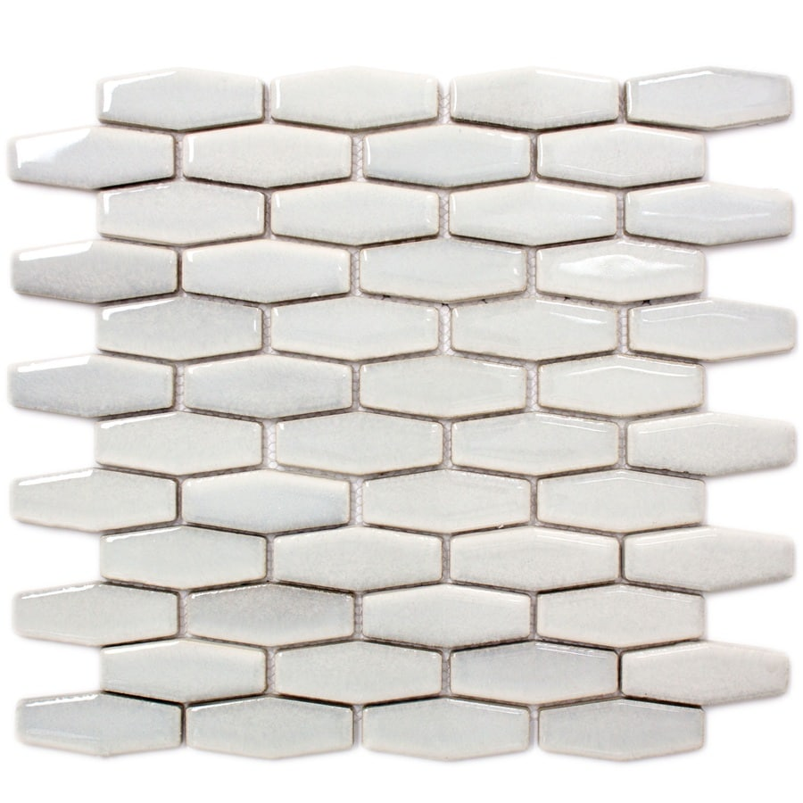 GBI Tile & Stone Inc. Gray Mosaic Porcelain Wall Tile (Common: 12-in x 14-in; Actual: 12.13-in x 13.86-in)