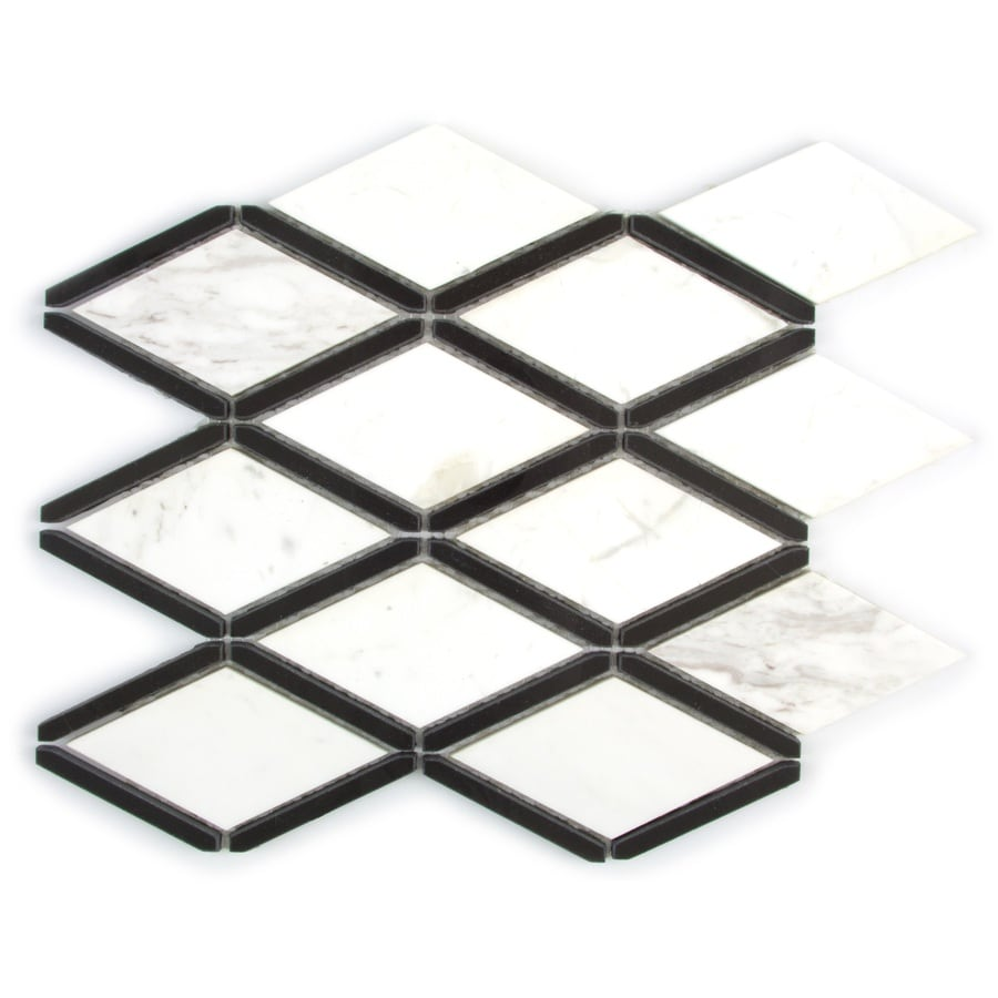 Gbi Tile Amp Stone Inc Black And White Diamond Mosaic