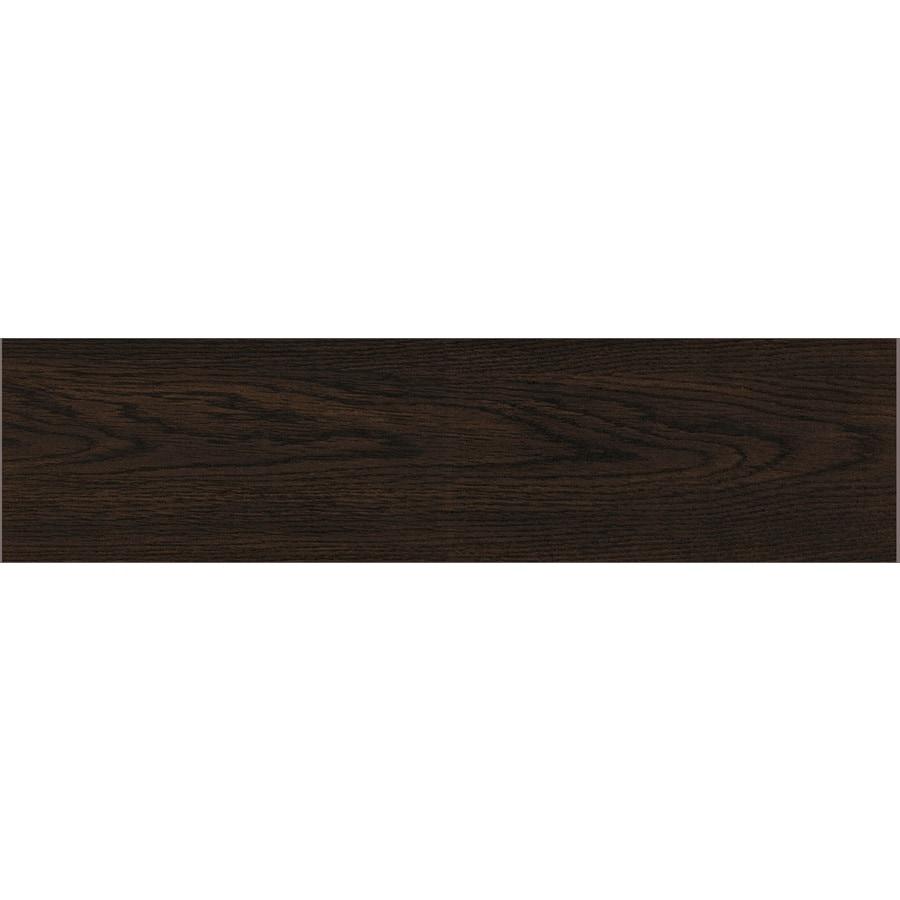 GBI Tile & Stone Inc. Saddleback Espresso Ceramic Floor Tile (Common: 6-in x 24-in; Actual: 5.91-in x 23.62-in)