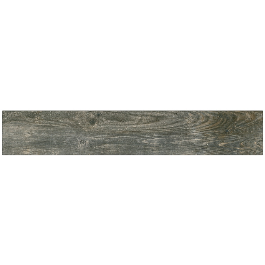 Shop tile at lowes style selections kaden reclaimed wood look porcelain floor tile common 6 in x dailygadgetfo Gallery