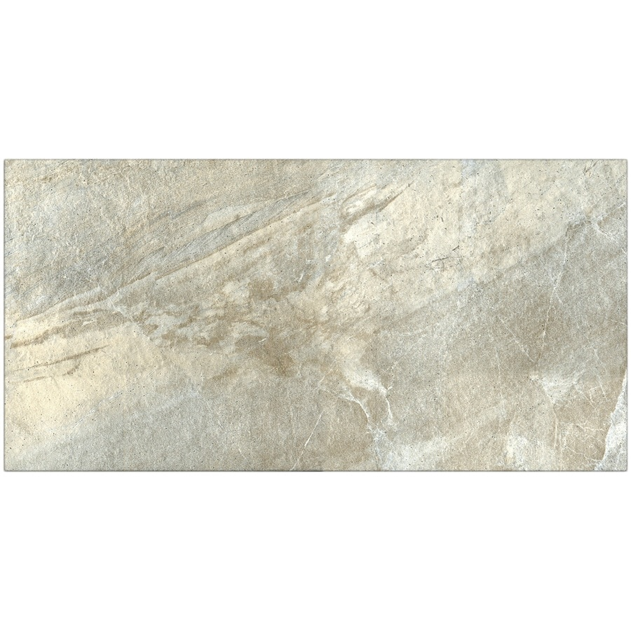 Shop Style Selections Carone Quartzite Porcelain Floor Tile ...