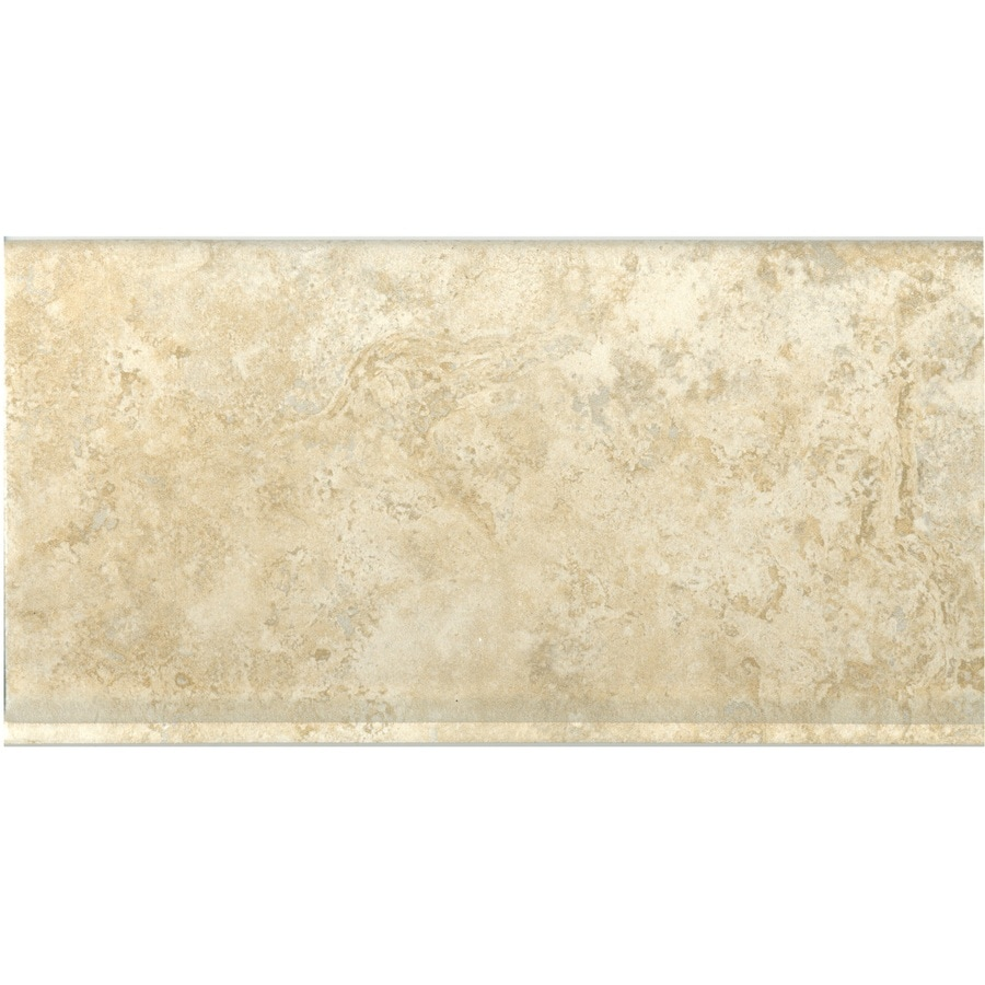 Style Selections Capri Classic Thru Body Porcelain Cove Base Tile (Common: 6-in x 12-in; Actual: 5.91-in x 11.81-in)