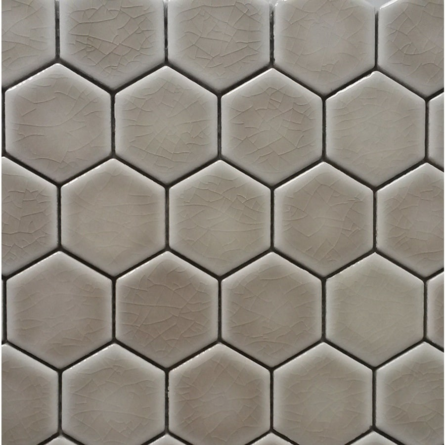 Shop Gbi Tile Amp Stone Inc Ceramic Beige Honeycomb Mosaic