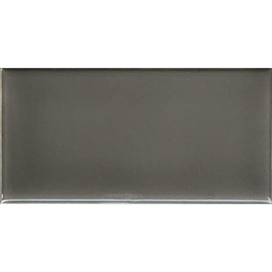 Allen Roth Charcoal Ceramic Subway Tile Common 3 In X 6