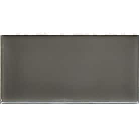 allen + roth Allen + Roth Charcoal 3-in x 6-in Ceramic Subway Tile (Common: 3-in x 6-in; Actual: 2.95-in x 5.9-in)