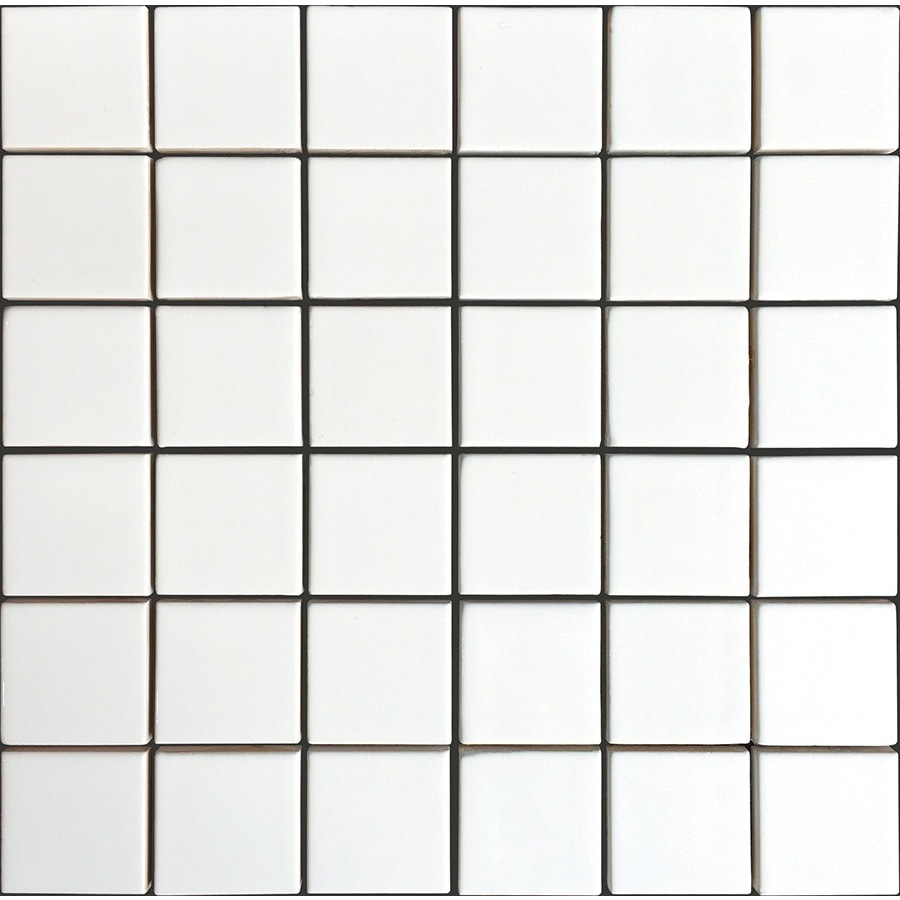 allen + roth Allen + Roth White Uniform Squares Mosaic Ceramic Wall Tile (Common: 12-in x 12-in; Actual: 11.77-in x 11.81-in)