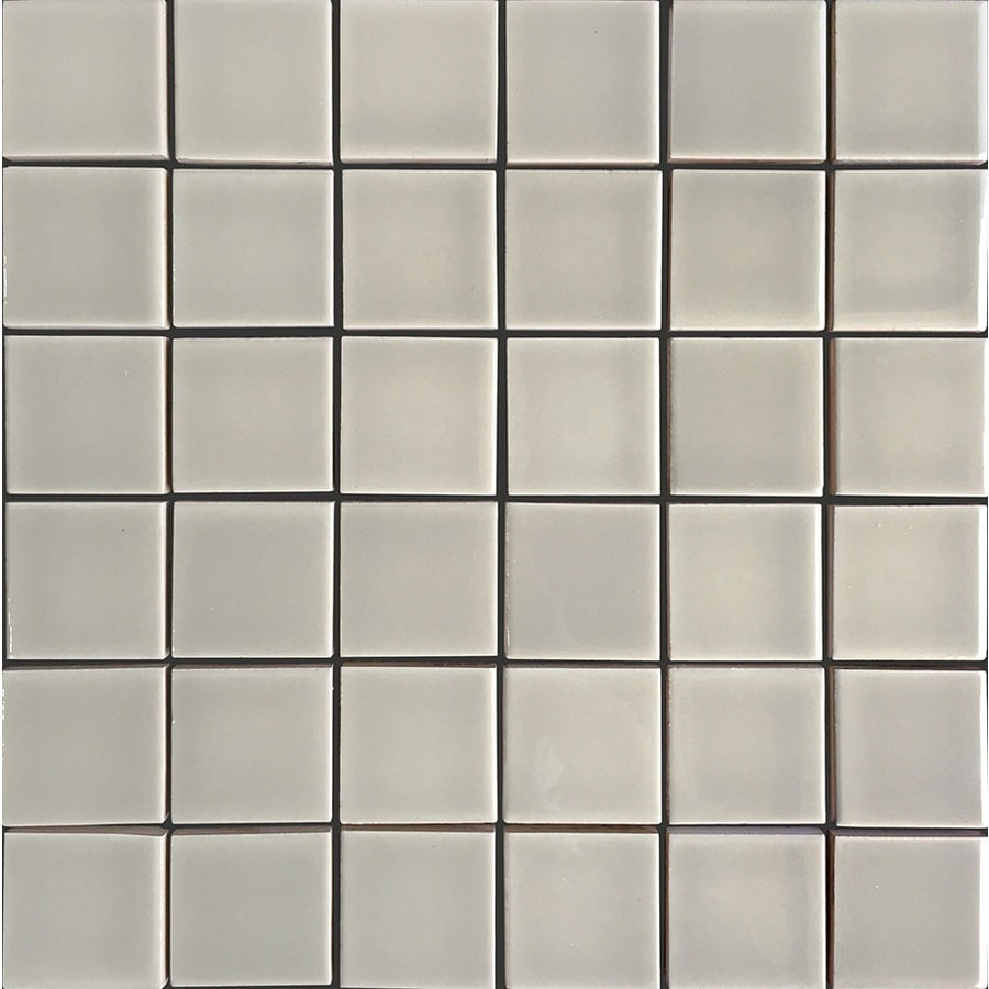 allen + roth Allen + Roth Pearl Uniform Squares Mosaic Ceramic Wall Tile (Common: 12-in x 12-in; Actual: 11.77-in x 11.81-in)