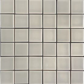allen + roth Pearl 12-in x 12-in Ceramic Uniform Squares Mosaic Wall Tile (Common: 12-in x 12-in; Actual: 11.81-in x 11.77-in)