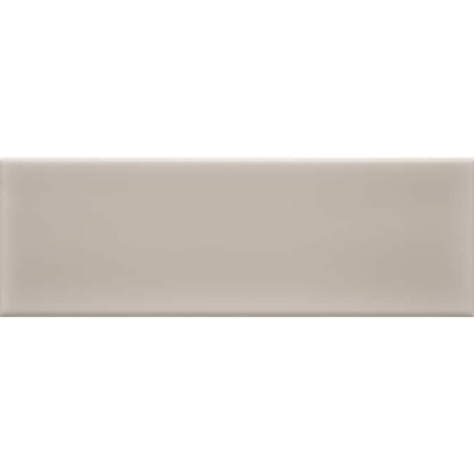 Allen Roth Pearl 4 In X 12 In Glazed Ceramic Subway Wall