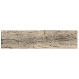 GBI Tile & Stone Inc. Madeira Buff 6-in x 24-in Glazed Ceramic Wood Look Floor Tile