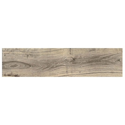 Madeira Buff 6 In X 24 Ceramic Wood Look Floor Tile Common Actual 23 62 5 87