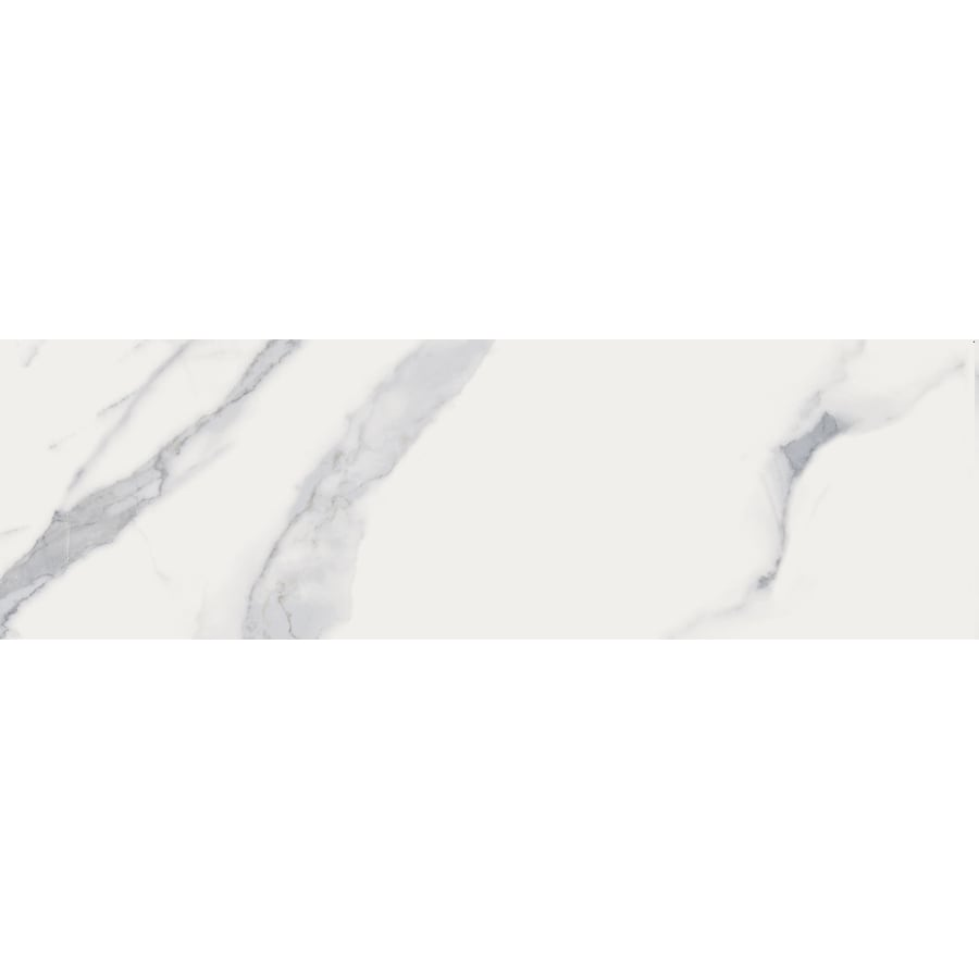 Style Selections Calacatta White Porcelain Floor and Wall Tile (Common: 3-in x 12-in; Actual: 11.7-in x 2.95-in)