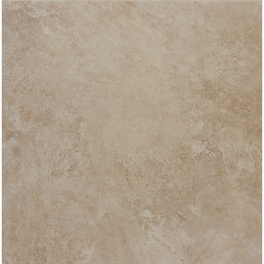 Shop Style Selections Sienna Almond Porcelain Floor Tile (Common ...