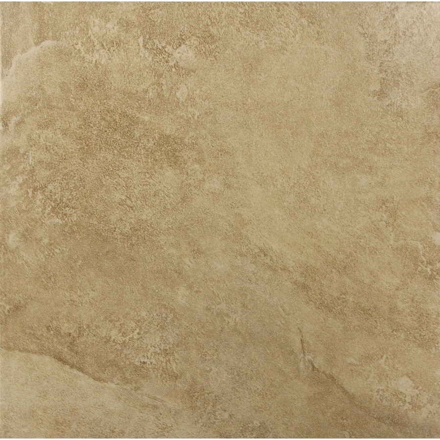 Incroyable Style Selections 12 In X 12 In Sienna Walnut Glazed Porcelain Floor Tile