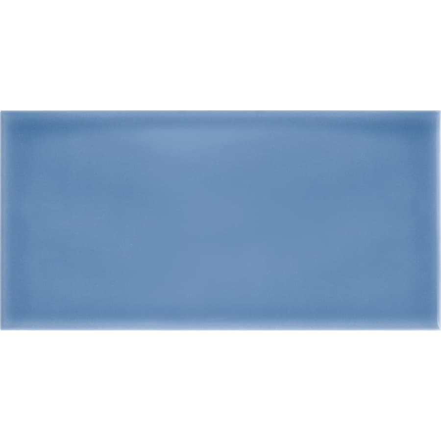 Shop allen + roth Blue Ceramic Subway Tile (Common: 3-in x 6-in ...