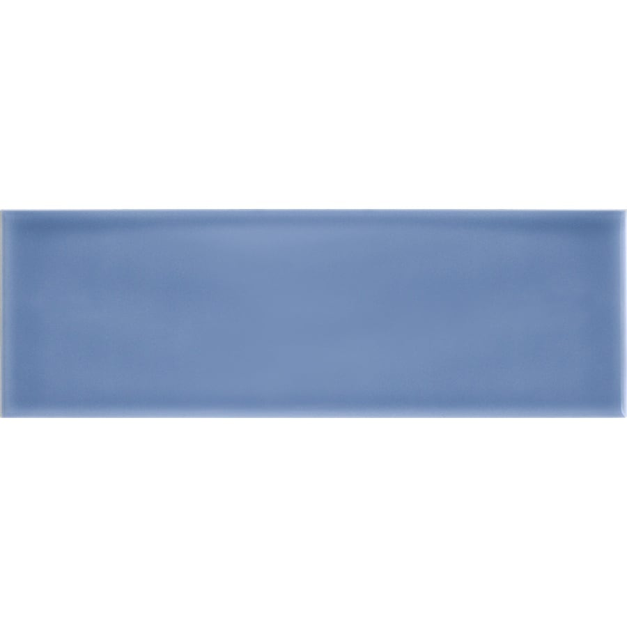 Shop allen + roth Blue Ceramic Subway Tile (Common: 4-in x 12-in ...