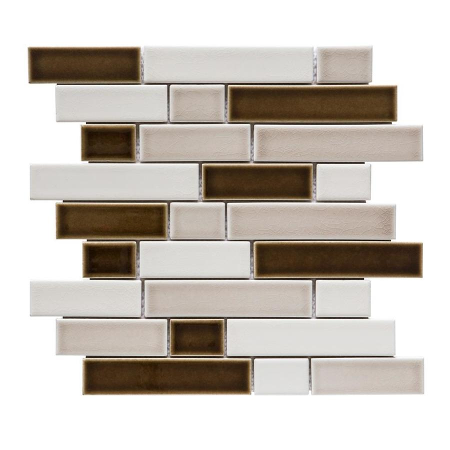 GBI Tile U0026 Stone Inc. West Covina 10 Pack Wharf Linear Mosaic Porcelain Wall