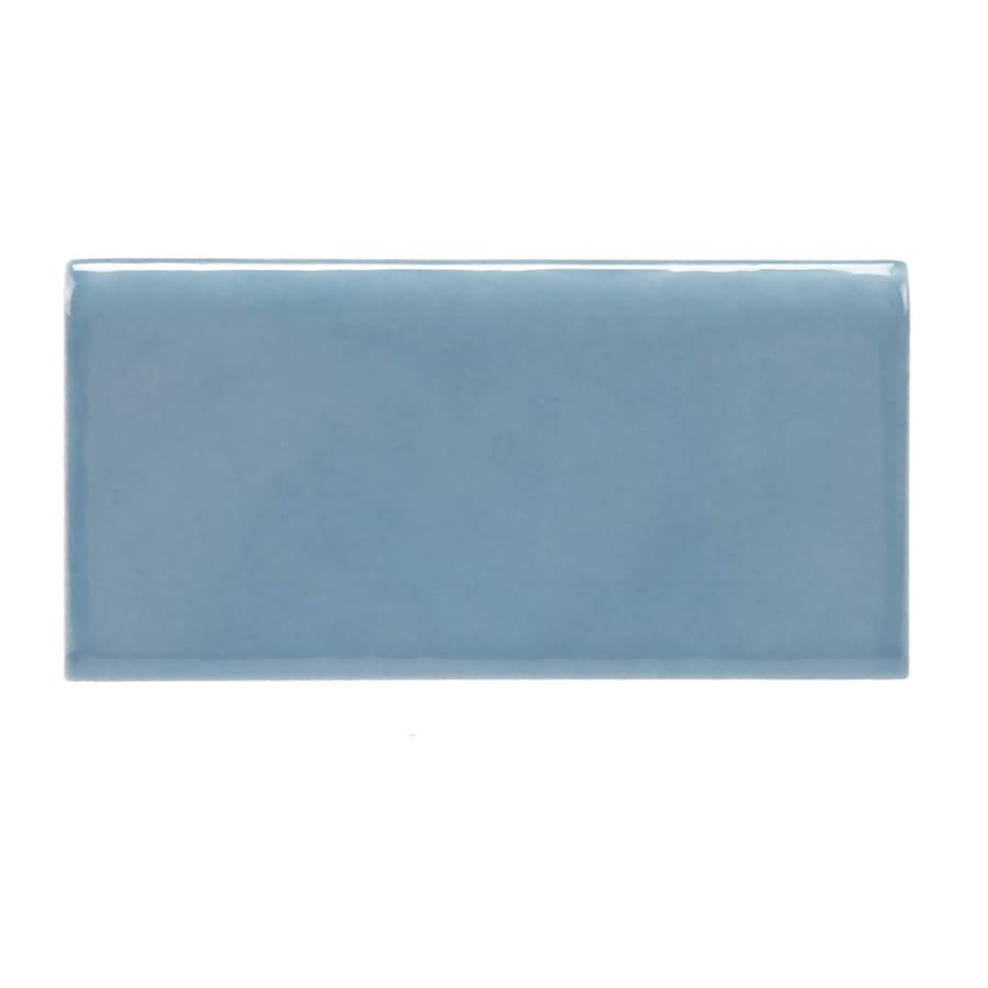 Allen Roth Allen Roth Blue Ceramic Wall Tile Common