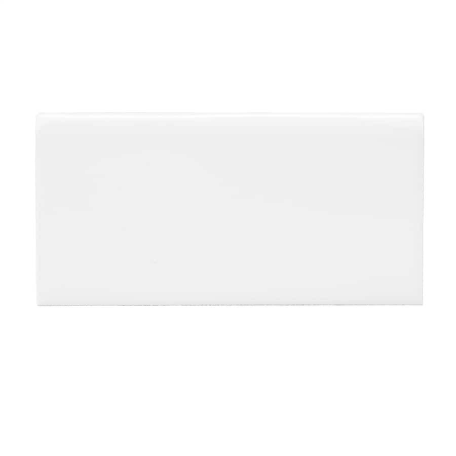 Allen Roth White Ceramic Bullnose Tile 3 In X 6 In In The Accent Trim Tile Department At Lowes Com