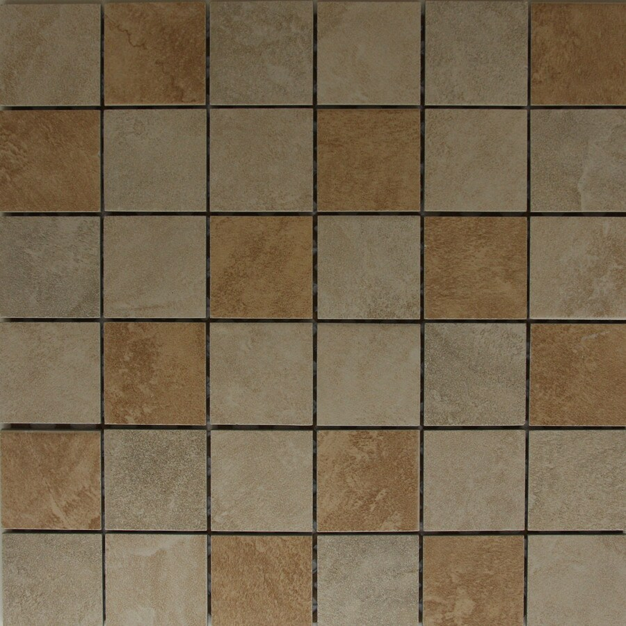 Style Selections Sienna Mixed Glazed Porcelain Mosaic Wall Tile Common 12