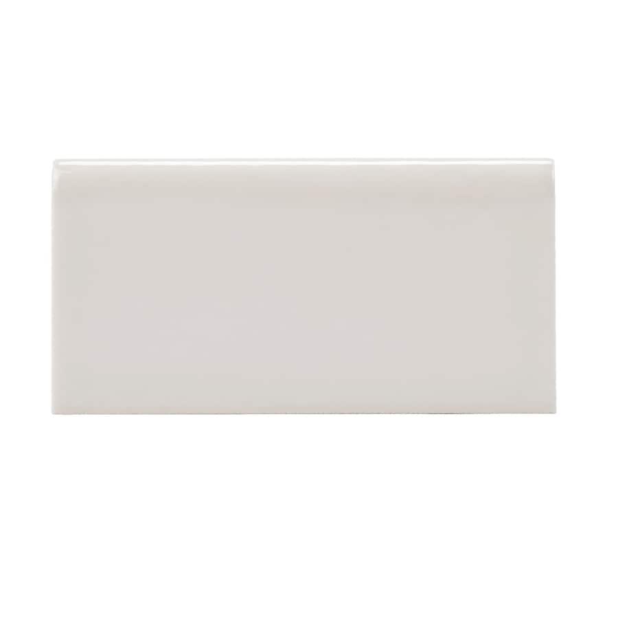 Allen Roth Pearl Ceramic Bullnose Tile Common 3 In X 6