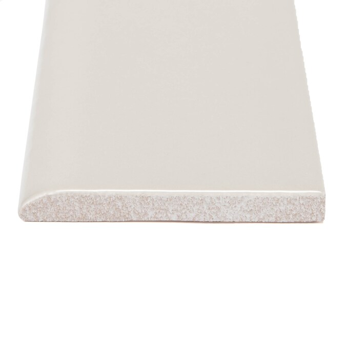 Allen Roth Pearl Ceramic Bullnose Tile 3 In X 6 In At